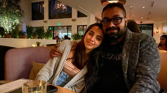 Anurag Kashyap poses with daughter Aaliyah.