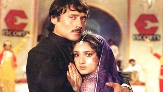 Meenakshi Seshadri made her film debut opposite Jackie Shroff in 1983's Hero.
