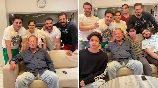 Salman Khan celebrated Father's Day with his family on Sunday.