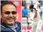 Virender Sehwag and Kane Williamson in action during WTC Final.(HT COLLAGE)