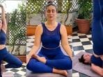 Kareena Kapoor Khan returns to Yoga with Vrikshasana, Siddhasana, Sarvangasana(Instagram/kareenakapoorkhan/therealkareenakapoor)