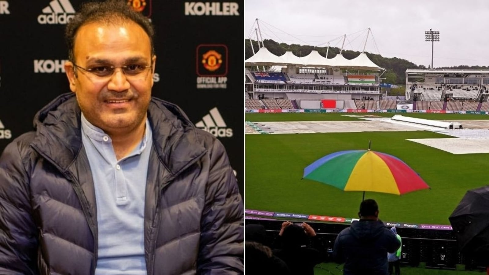 Photo of WTC Final: Virender Sehwag takes a funny dig at ICC after Day 4 gets washed out due to rain