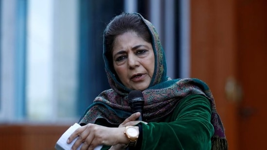 PDP chief Mehbooba Mufti.(HT File Photo)