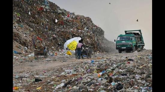 Chandigarh produces around 450 MT of solid waste per day.