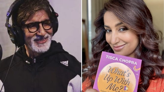 Amitabh Bachchan recently read Tisca Chopra's latest book What's Up With Me?. Read on to find out what he said.(Instagram)