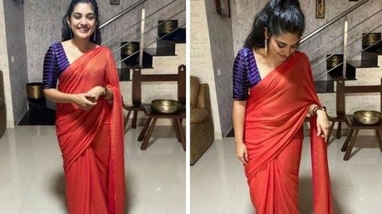 Nivetha Thomas was last seen in Telugu film, Vakeel Saab and Tamil film, Darbar.(NivethaThomas/Instagram)