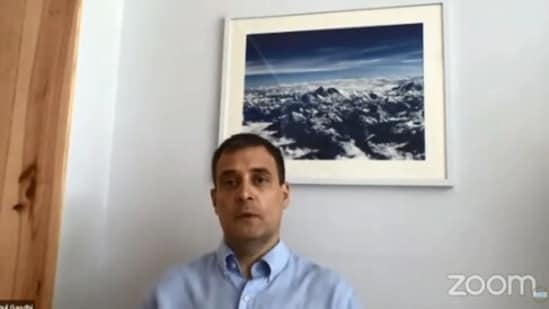 Picture of Mount Everest spotted in Rahul Gandhi's video.(Twitter/@RahulGandhi)