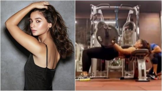 Alia Bhatt aces barbell hip thrusts and shows who is the hardest worker in room(Instagram/@aliaabhatt)