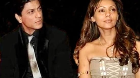 Shah Rukh Khan and Gauri Khan in a throwback picture shared by her on Instagram.