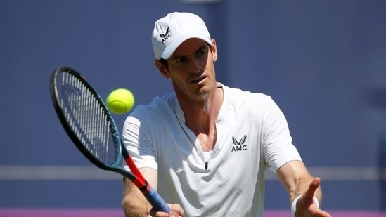 Britain's Andy Murray during practice.(Reuters)