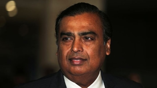 Mukesh Ambani, Chairman and Managing Director of Reliance Industries, arrives to address the company's annual general meeting in Mumbai. (REUTERS)