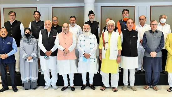 At the meeting, many Kashmir politicians were dissatisfied with the Union government's assurance that statehood will be restored in time.(AFP)