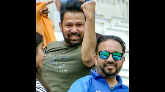 The image of the Indian fan shared by ICC on Instagram.(Instagram/@icc)