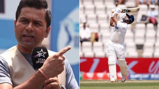 Aakash Chopra responds to Rishabh Pant's dismissal(HT Collage)