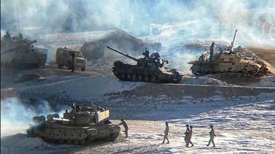 More than a year after the standoff began, the disengagement of troops is yet to be completed after 11 rounds of military talks and seven rounds of diplomatic talks. China's People's Liberation Army has continued the deployment of troops and heavy equipment on the LAC leading to a standoff. (AFP PHOTO.)