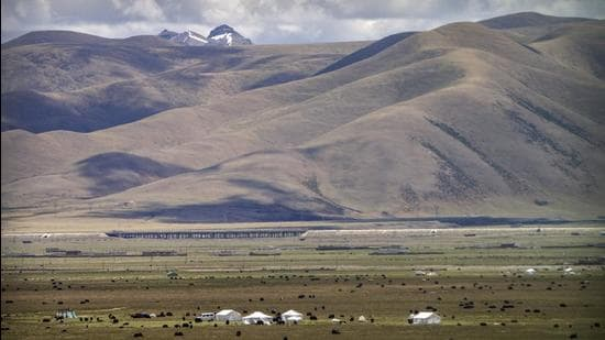 A view of Lhasa in western China's Tibet Autonomous Region. (AP)