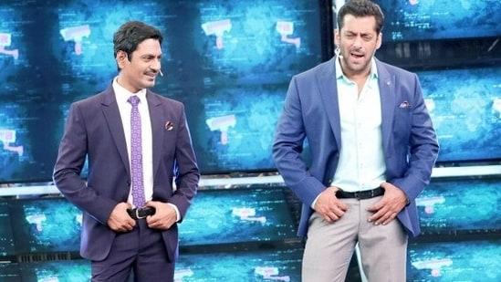 Nawazuddin Siddiqui shares the stage with Salman Khan.