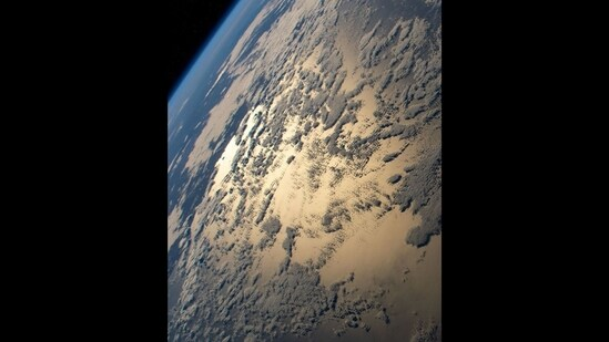 This image of Sun's glint beaming off the Indian Ocean was shared by Nasa.(Instagram/@Nasa)