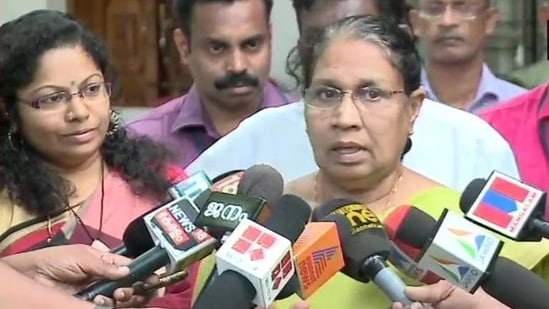 Kerala women's commission chief MC Josephine said she was angry that women suffer silently.(ANI/Twitter)