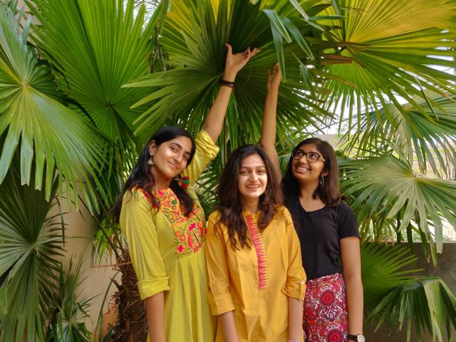 The women behind the project: Muskaan Pal, Khushi Gupta and Ananya Pujary. The students of Pune's Flame university set up the website as part of an introduction to digital humanities course.