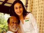 Rajinikanth was seen with his older daughter Aishwarya Dhanush in Florida.