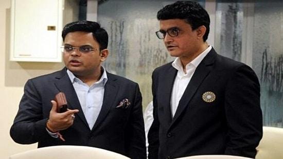 BCCI general secretary Jay Shah and president Saurav Ganguly(ANI Photo)