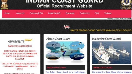 Join Indian Coast Guard 2021: Notification for 50 Asst Commandant posts released(Indian Coast Guard)