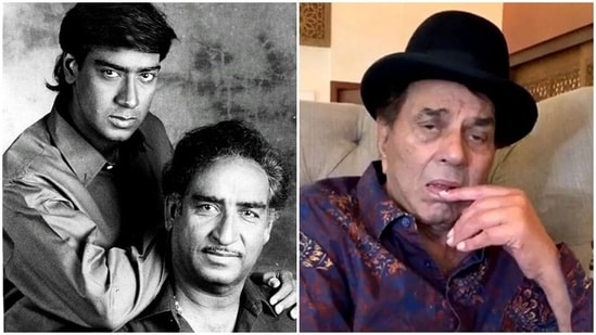 Ajay Devgn paid a tribute to his father Viru Devgn on Twitter.
