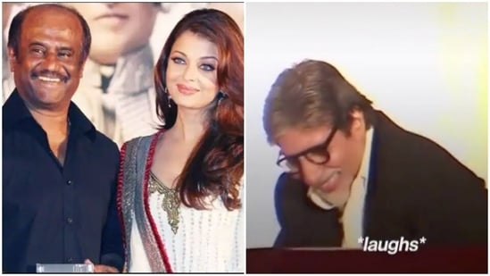 Amitabh Bachchan could not control his laugher at Rajinikanth's story.
