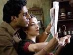 Abhishek Bachchan and Aishwarya Rai in Guru.