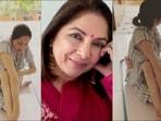 Neena Gupta on practising Yoga pose Ardha Matsyendrasana: 'Koshish jari hai'(Instagram/neena_gupta)