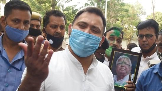 RJD leader Tejashwi Yadav asked Chirag Paswan to join the alliance against Nitish Kumar, (Santosh Kumar /Hindustan Times)
