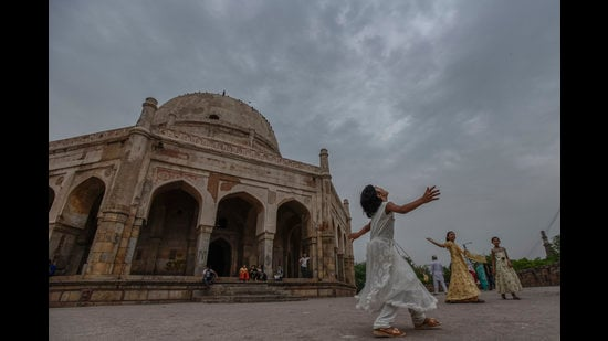 As monsoon knocks at the doors of Delhi, an outing to less crowded monuments such as Adham Khan's tomb can be refreshing. (Photo: Burhaan Kinu/HT)