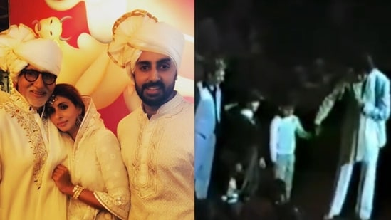 Shweta Bachchan shared a throwback video featuring her younger self with a little Abhishek Bachchan at an event with their father, actor Amitabh Bachchan.