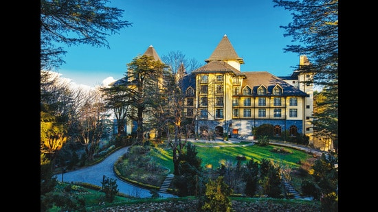 Though Wildflower Hall is a new structure, it builds on the legacy of stately homes in Mashobra