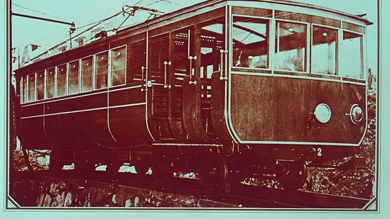 In this undated photo provided by Hong Kong Peak Tramways, a 2nd generation Peak Tram which serviced from 1926 to 1948 is seen in Hong Kong. (AP)