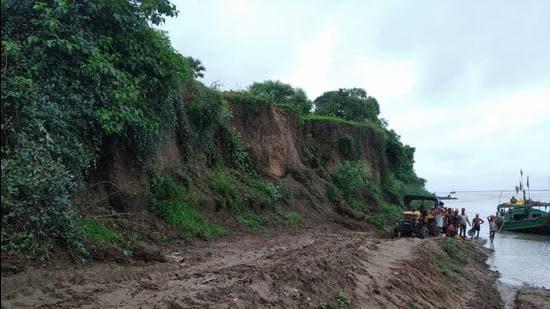 Excavated site at Chirand, Saran in Bihar. (HT photo)