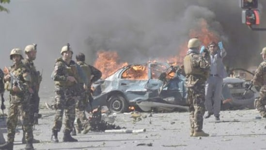 File photo of a Taliban IED attack in Kabul.