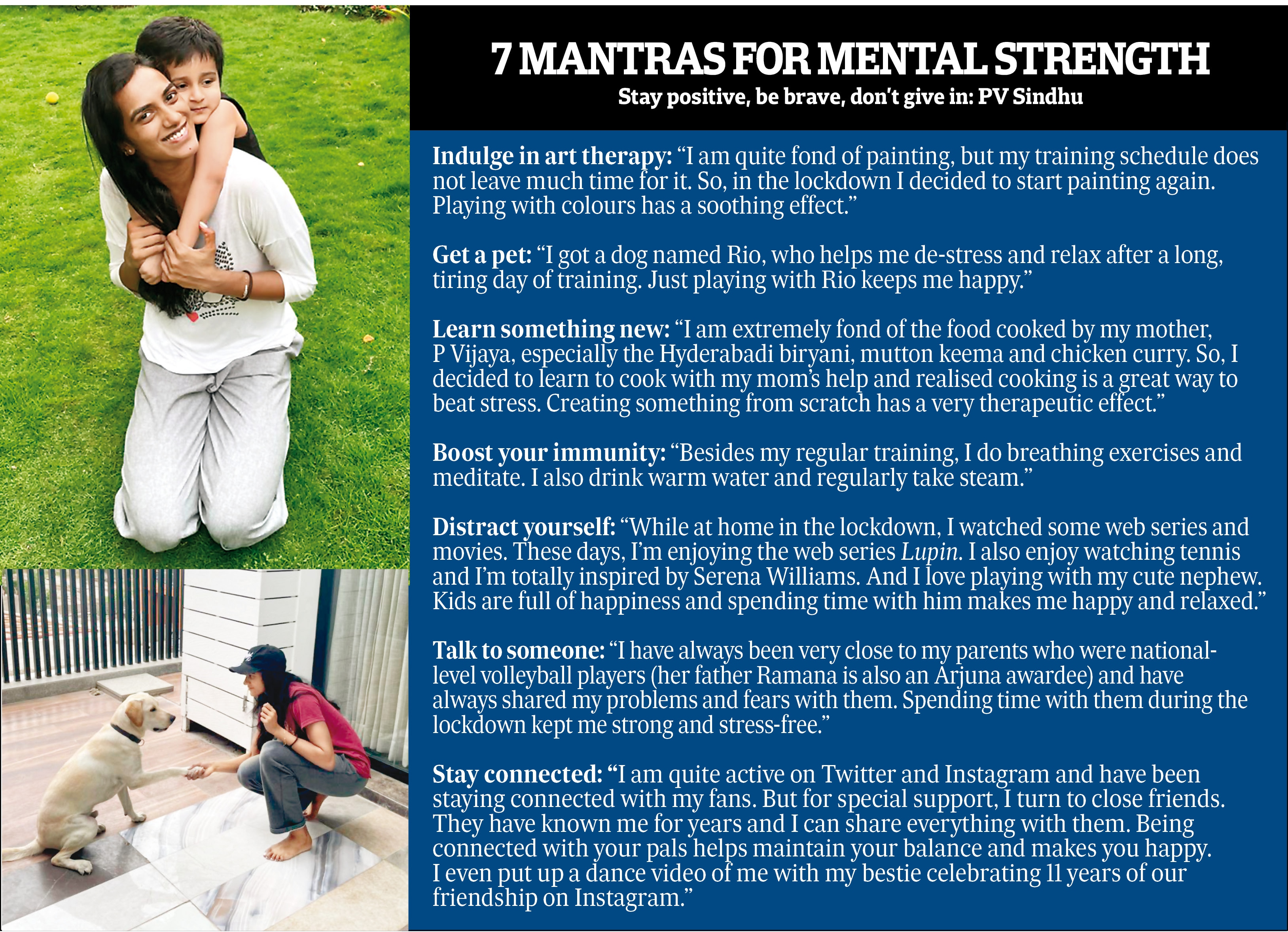 How PV Sindhu keeps mentally fit