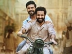 Ram Charan and Jr NTR in a still from RRR.