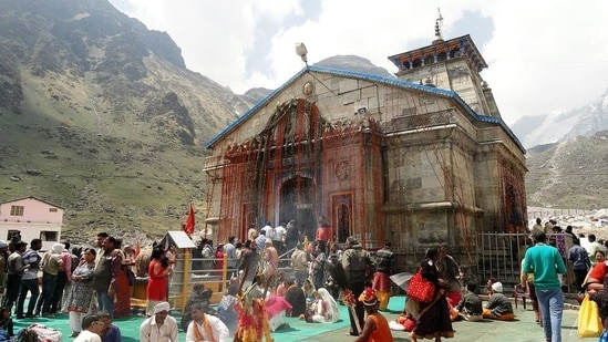 A view of Kedarnath shrine in Rudraprayag district.(HT File Photo)