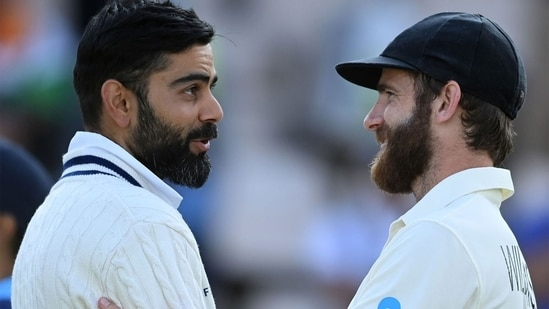 Virat Kohli and Kane Williamson after the match.(Getty Images)