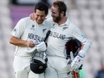 New Zealand's Kane Williamson and Ross Taylor celebrate after winning the ICC World Test Championship Final(Action Images via Reuters)