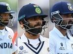 Cheteshwar Pujara, Virat Kohli and Ajinkya Rahane could not cross 50 in the WTC final. (Getty Images)