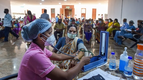The ICMR earlier said that diabetes and high BP do not increase the risk of contracting SARS-CoV-2. (PTI)