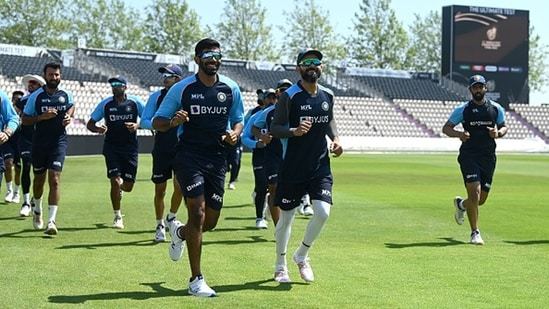 The Indian cricket team trains ahead of the WTC final. (Getty Images)