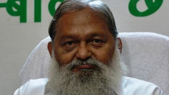 Haryana health minister Anil Vij(HT photo)
