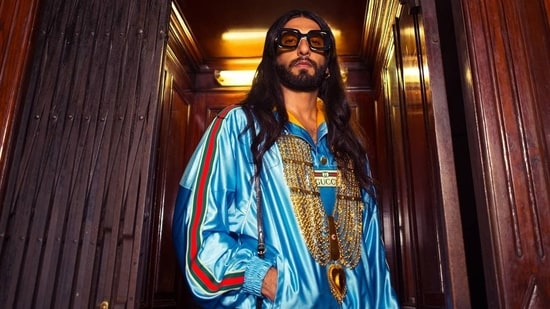 Ranveer Singh sported a long-haired wig in his new set of pictures.