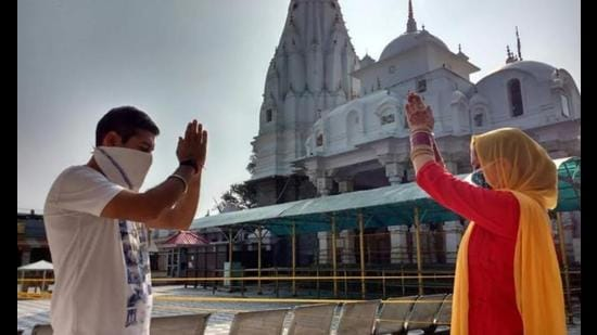 With Covid-19 cases on a decline, the Himachal Pradesh cabinet decided to reopen religious places, which were closed due to the second wave, but people were asked to follow Covid-appropriate behaviour. (HT file photo)