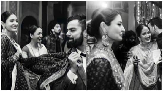 Anushka Sharma with Virat Kohli at Zaheer Khan-Sagarika Ghatge wedding.